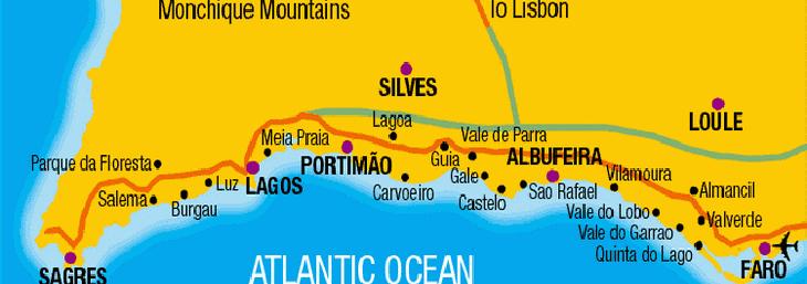 guia algarve mapa Guia Central Algarve villa guia algarve mapa